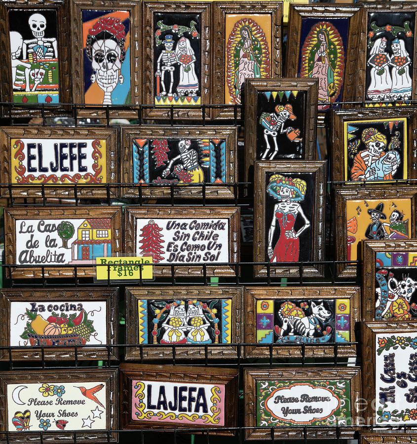 Dia De Los Muertos Photograph - Dead Plaques  by Chuck Kuhn