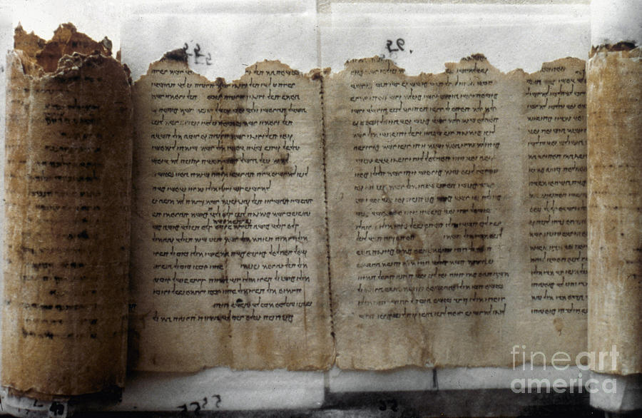 Ancient Photograph - Dead Sea Scroll by Granger