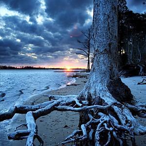 Landscape Photograph - Dead Sunset by Eszra Tanner