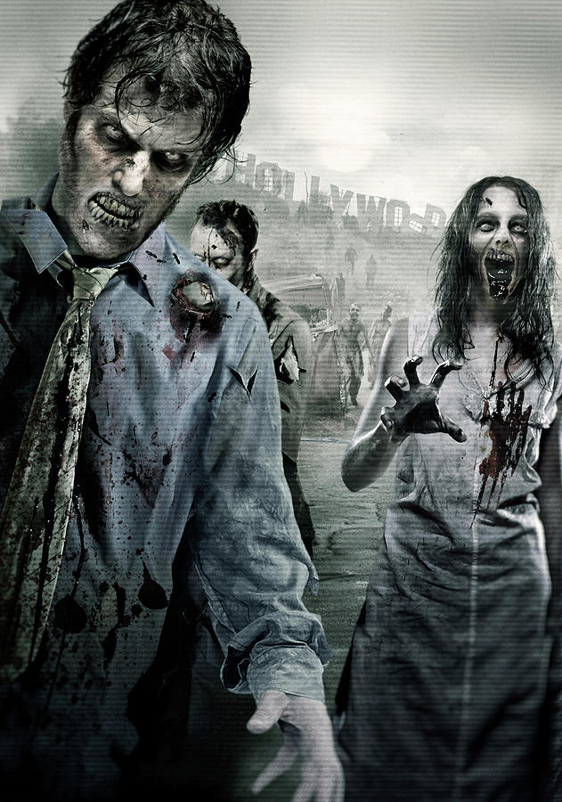 Zombie Digital Art - Dead Walking by Joe Roberts