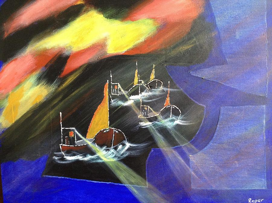 Fishing Painting - Deadliest Catch by Roger Davey