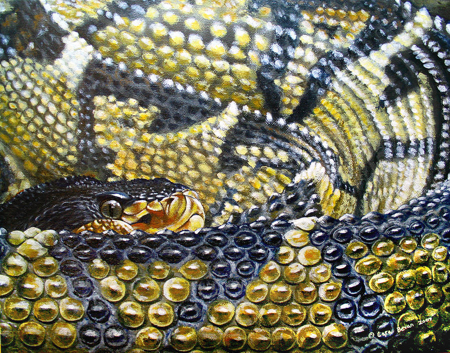 Snake Painting - Deadly Details by Cara Bevan