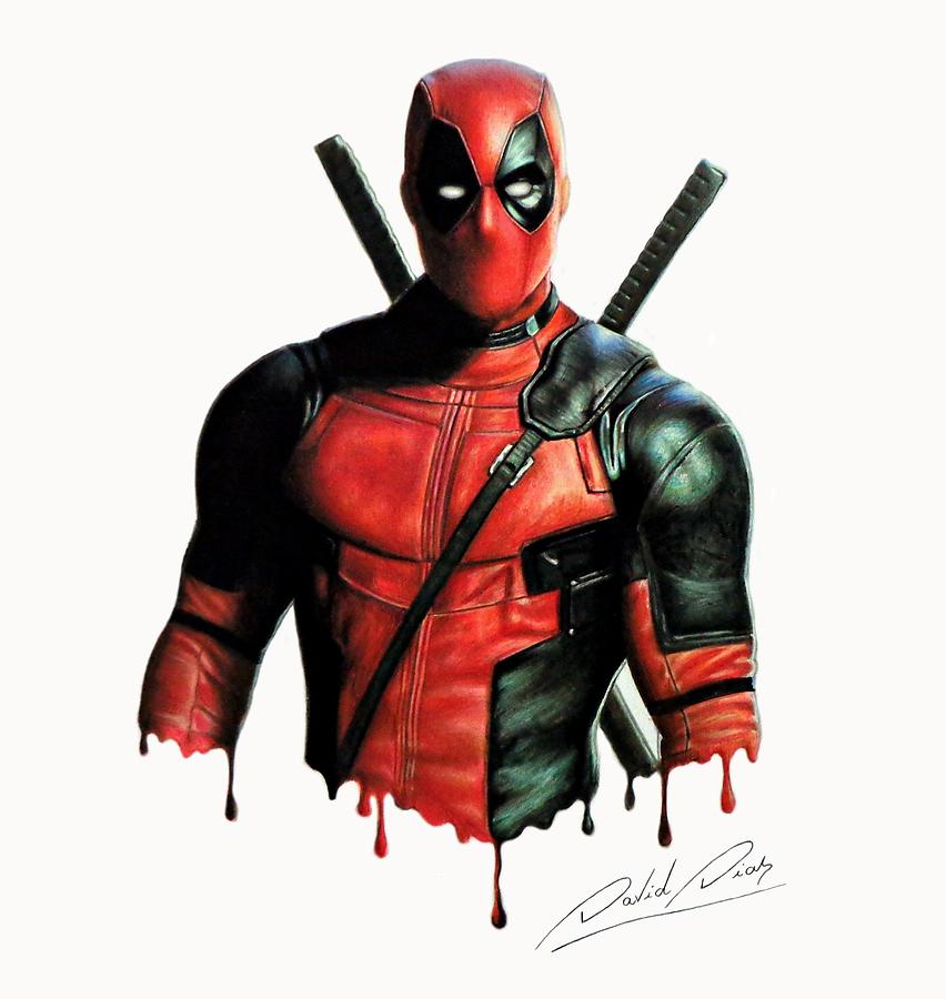 Deadpool 1 drawing by david dias for Headpool