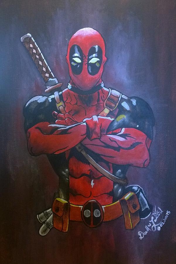 Deadpool Painting - Deadpool by Darrell Lormand