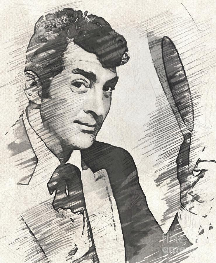 Dean Martin, Actor, Crooner Drawing