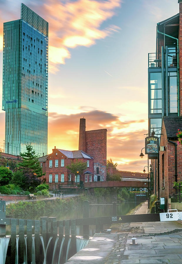 Deansgate locks overshadowed by Neil Alexander Photography