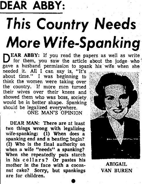 Americana Digital Art - Dear Abby Country Needs More Wife Spanking by Reinvintaged