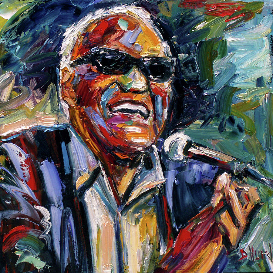 Ray Charles Painting - Dear Brother Ray by Debra Hurd
