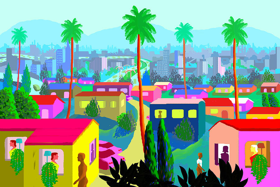Outsider Painting - Dear California by Charles Harker