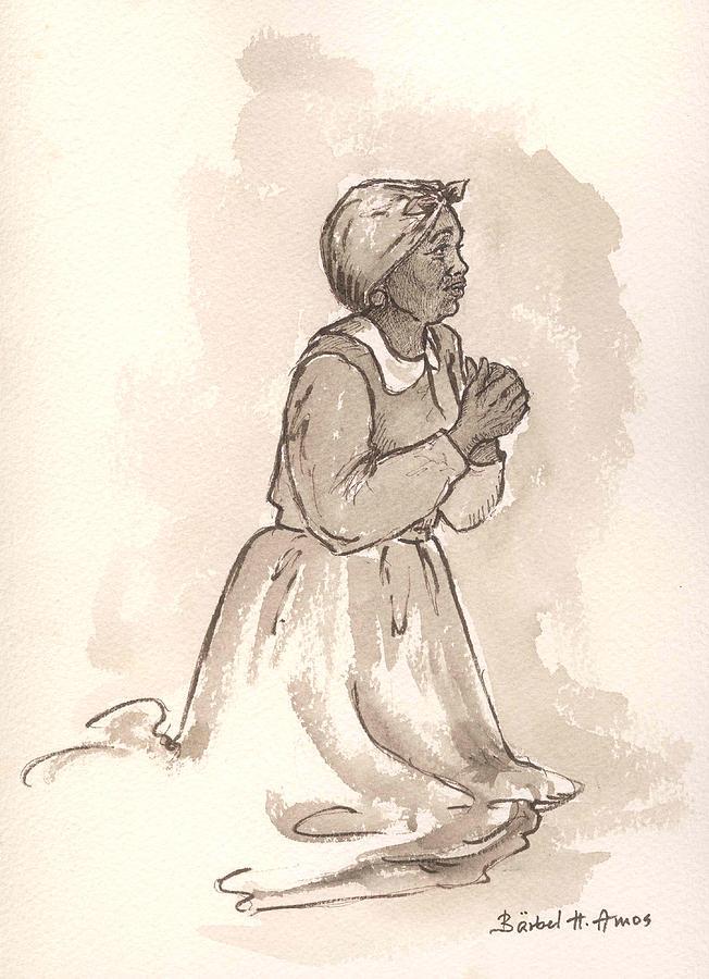 Female Painting - Dear God... by Barbel Amos