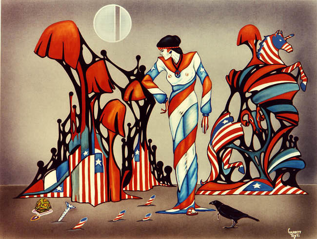 America Painting - Dear John by Garrett Testi