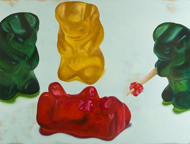 Death Of A Gummy Bear Iv Painting By Josh Bernstein