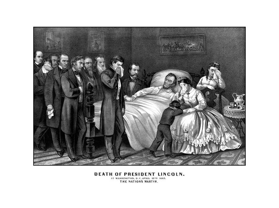 Abraham Lincoln Drawing - Death Of President Lincoln by War Is Hell Store