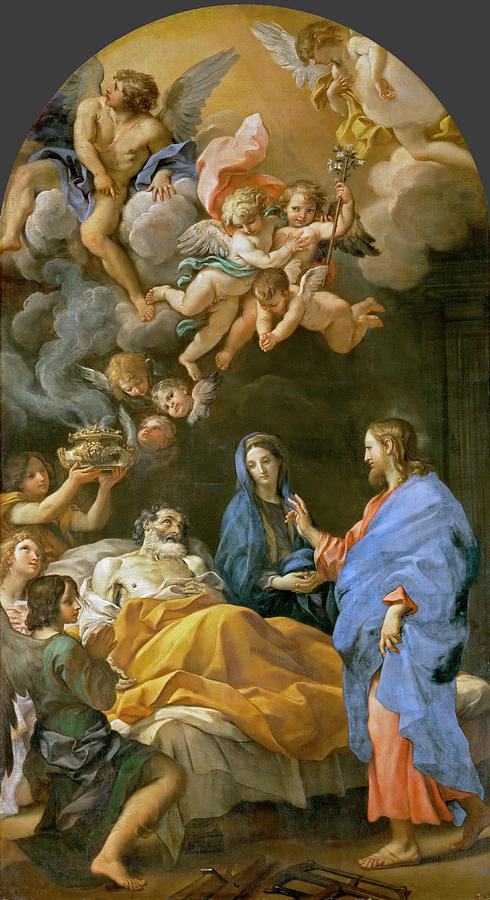 Carlo Maratta Painting - Death Of Saint Joseph by Carlo Maratta