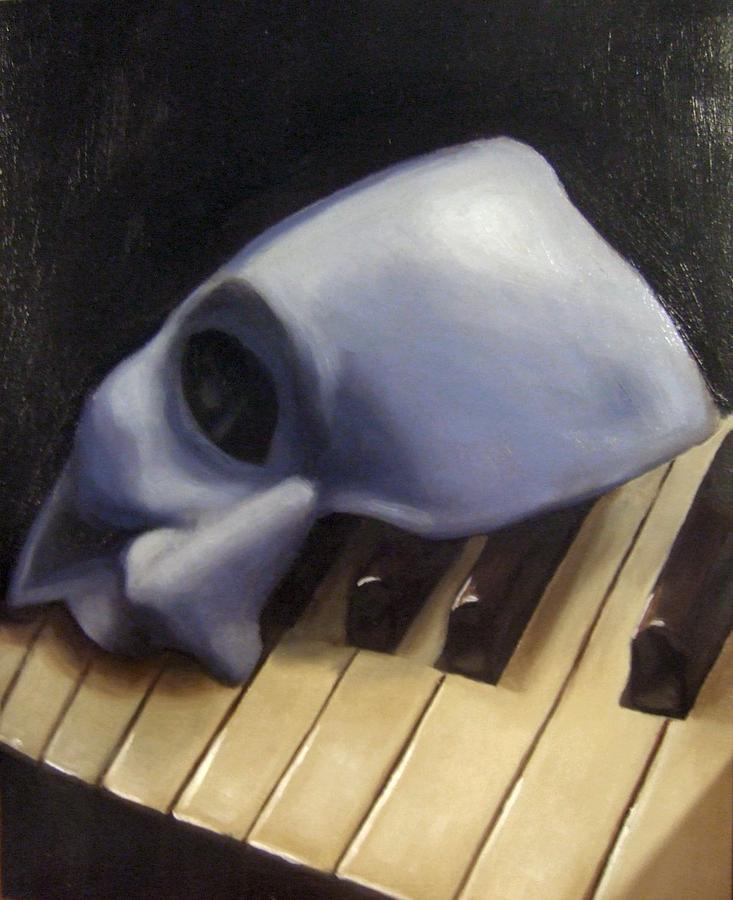 Phantom Of The Opera Painting - Death Of The Phantom by Alison Schmidt Carson