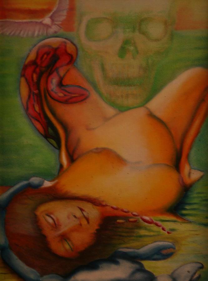 Major Arcana Painting - Death by Roger Williamson