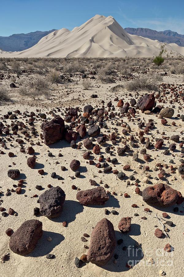 Death Valley Dunes and Rocks  Photograph by Yva Momatiuk John Eastcott