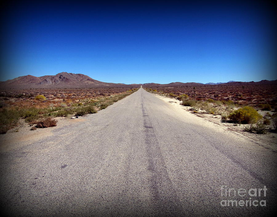 Death Valley Photograph - Death Valley Road to Darwin by Joy Patzner