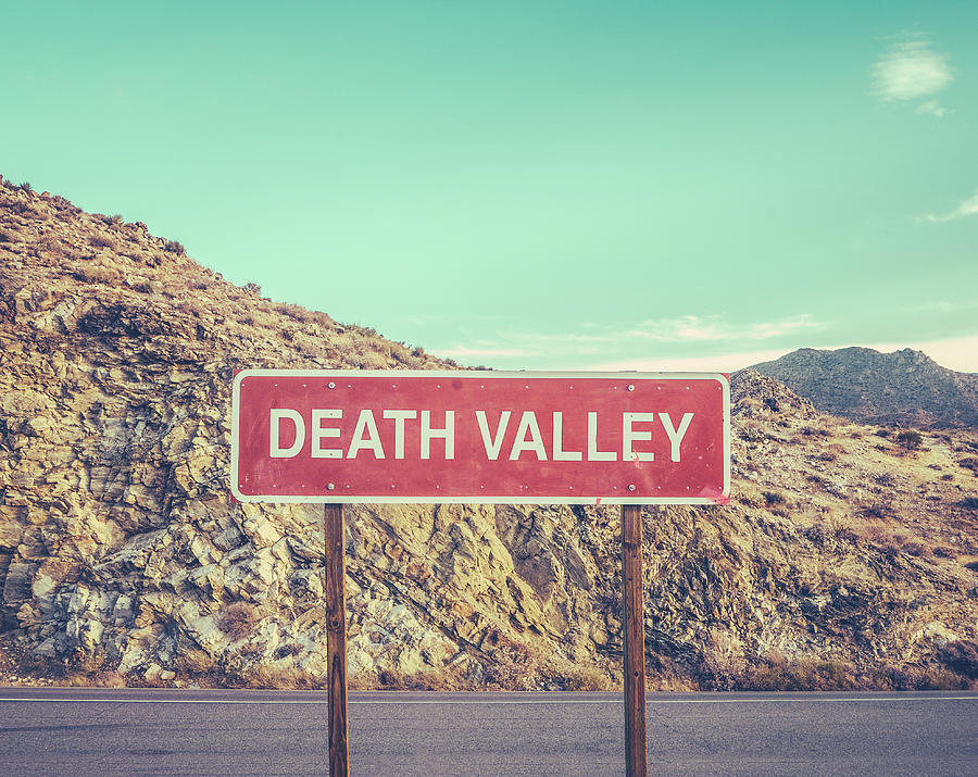Death Valley Sign Photograph