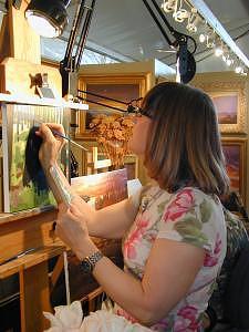 Wildlife Painting - Debbie Edgers Sturges Paints At The Celebration by Debbie Edgers Sturges
