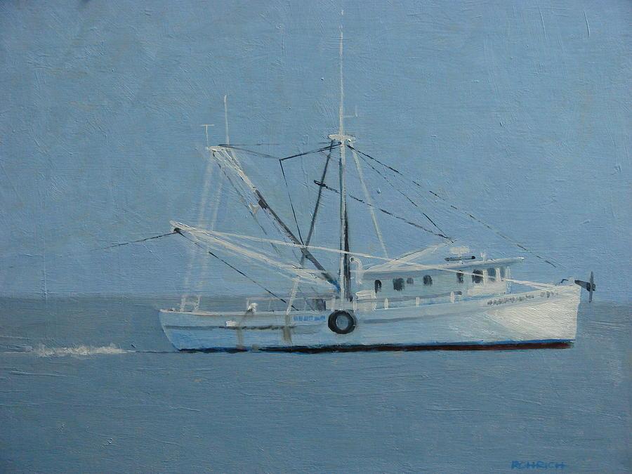 Trawler Painting - Deborah Ann Trawling by Robert Rohrich