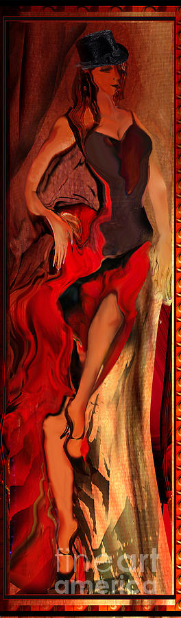 Woman Painting - Debut in red by Anne Weirich