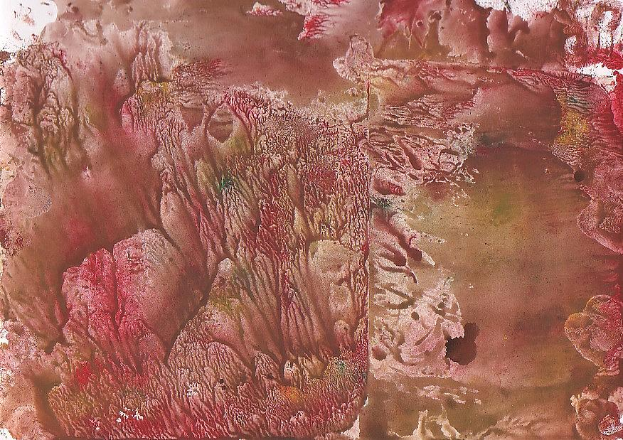 Decalcomanie Painting - Decalcomanie 1 by Michael Puya