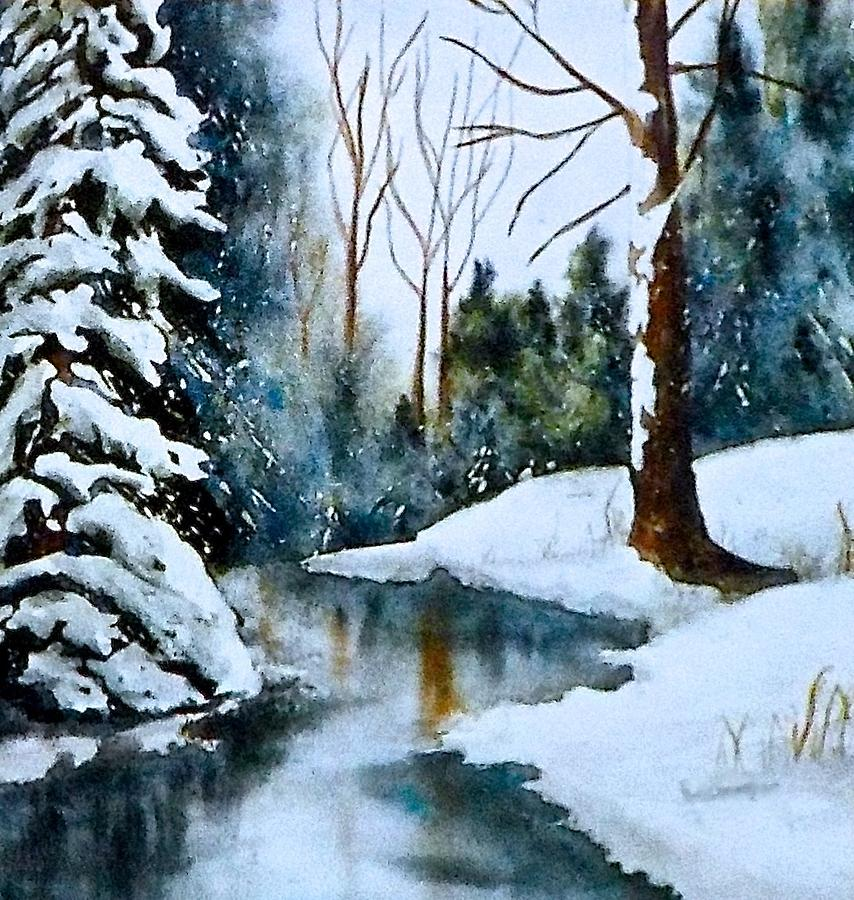Watercolor Painting - December Beauty by Carolyn Rosenberger