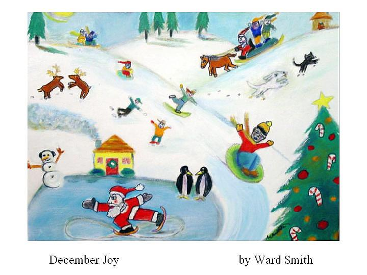 December Joy Painting by Ward Smith