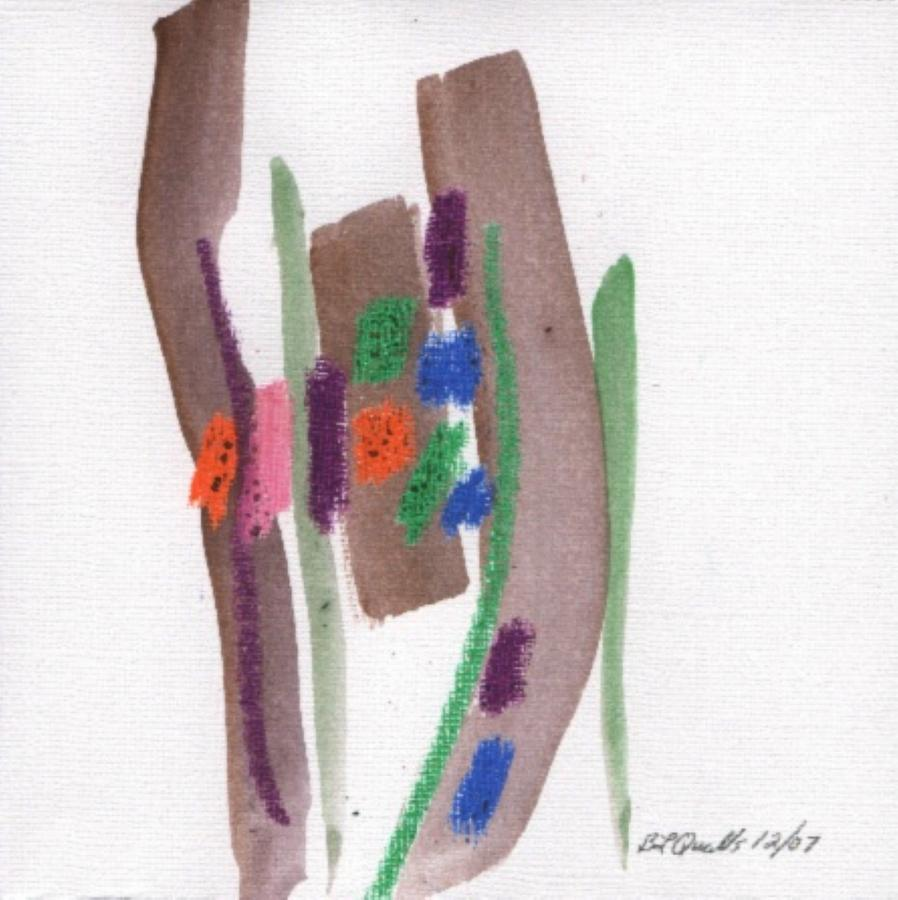 Watercolor Painting - December Painting - 2nd Series -  Painting 2 by B L Qualls