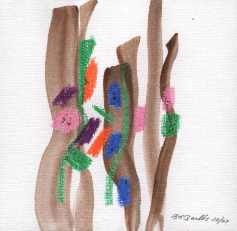 Watercolor Painting - December Painting - 2nd Series - Painting 5 by B L Qualls