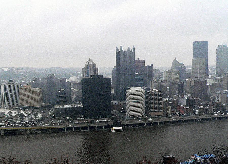 Pittsburgh Photograph - December Pittsburgh by David Bearden