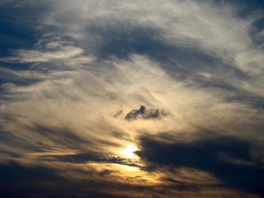 Winter Photograph - December Sky by Ana Villaronga