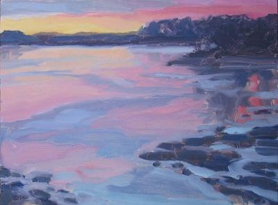 December Sunrise  Painting by Margie Guyot