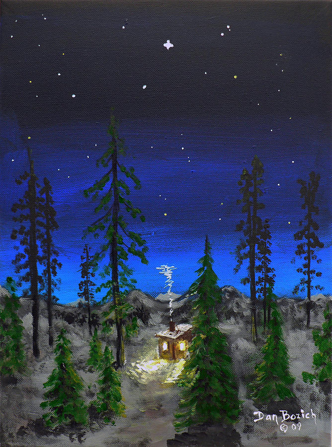 Bright Star Painting - Decembers Star by Dan Bozich