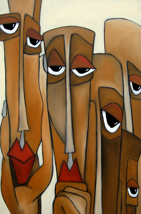 Fidostudio Painting - Decision Makers - Abstract Pop Art By Fidostudio by Tom Fedro - Fidostudio