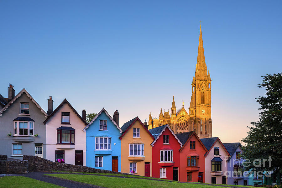 Ireland Photograph - Deck Of Cards And St Colmans Cathedral, Cobh, Ireland by Henk Meijer Photography
