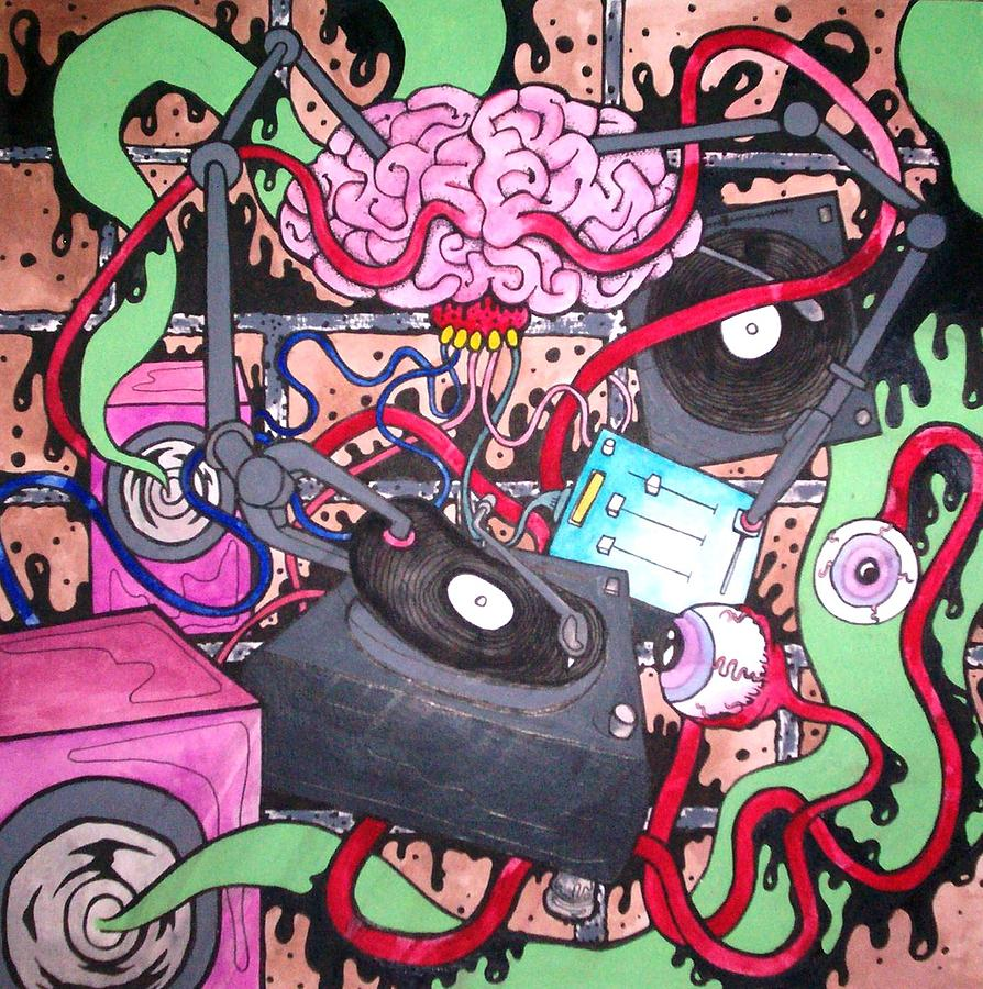 Music Painting - Deck Tentacle by Sam Hane