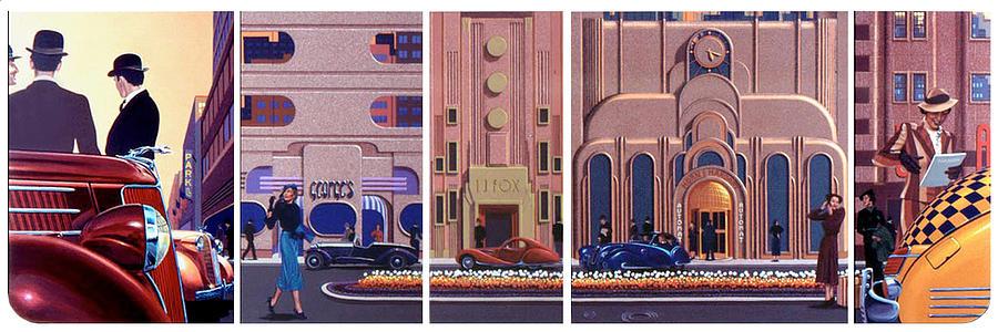 Deco Boulevard Painting by George Torjussen
