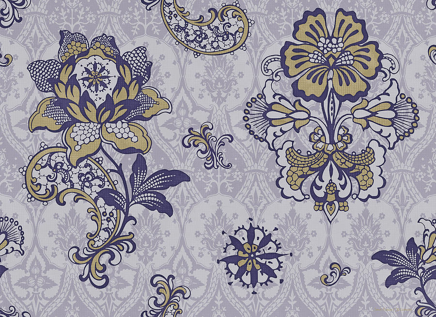 Flowers Painting - Deco Flower Blue by JQ Licensing