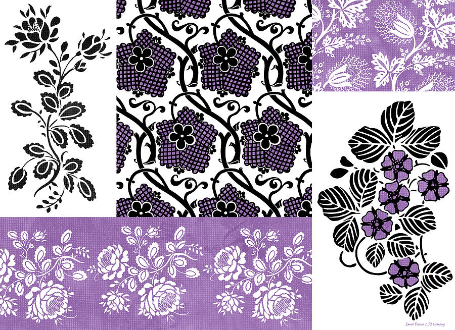 Flowers Painting - Deco Flower Patchwork 3 by JQ Licensing