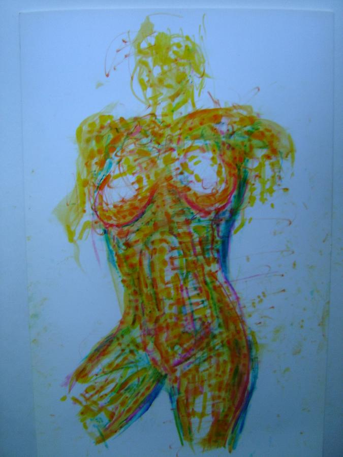 Female Nude Drawing - Decolletage by Dean Corbin