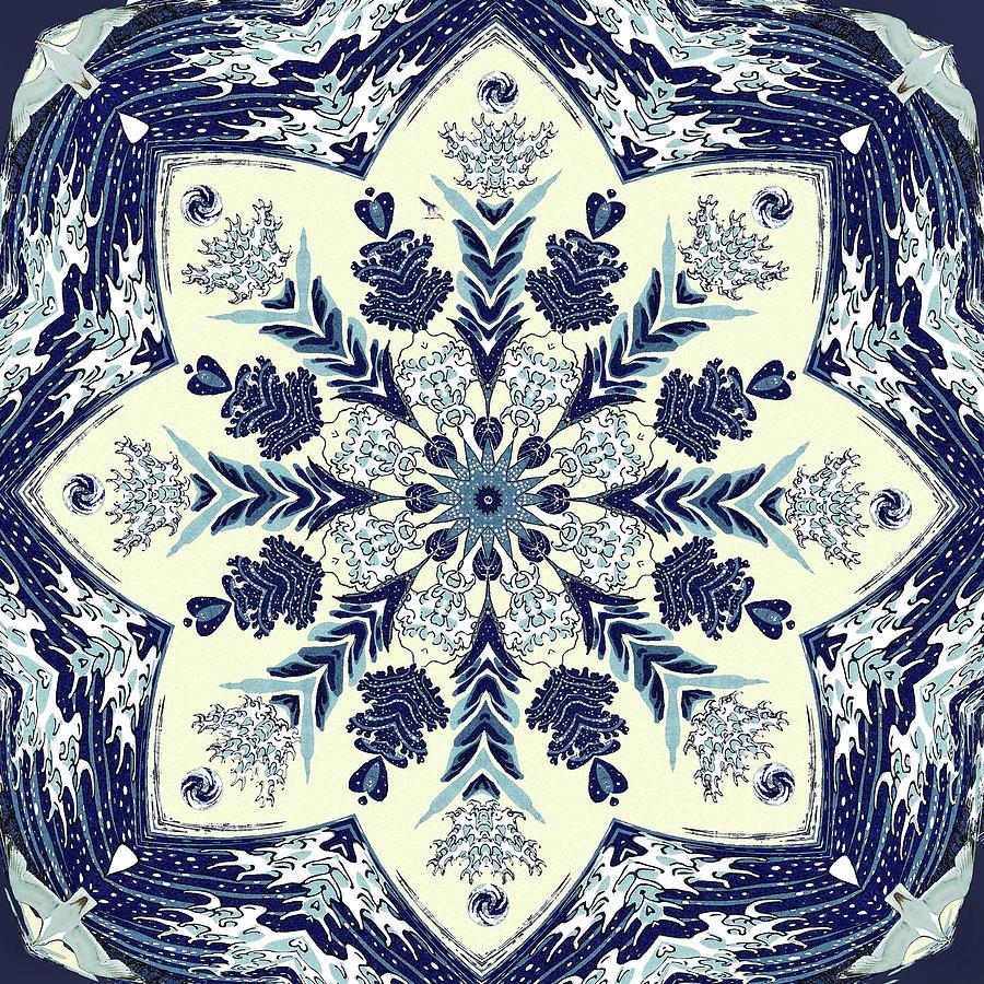 Deconstructed Sea Mandala by Deborah Smith