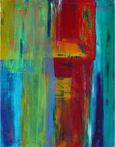 Abstract Painting - Deconstruction - 2 by Alex Mariquit