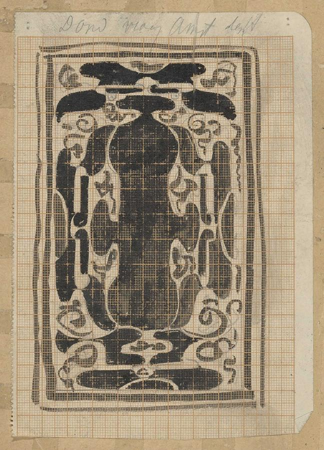 Pattern Painting - Decorative Design, Carel Adolph Lion Cachet, 1874 - 1945 by Carel Adolph Lion Cachet
