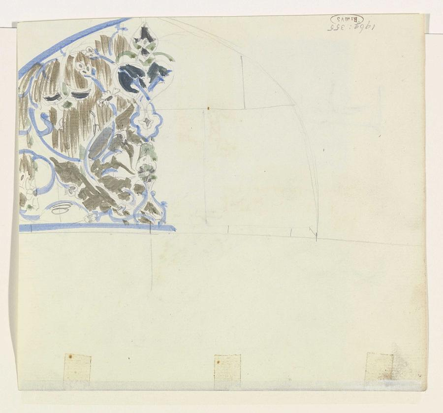 Pattern Painting - Decorative Design, Carel Adolph Lion Cachet, 1874 - 1945 G by Carel Adolph Lion Cachet