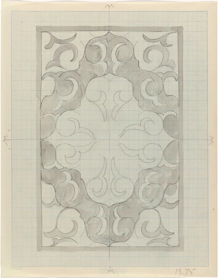 Pattern Painting - Decorative Design, Carel Adolph Lion Cachet, 1874 - 1945 Gs by Carel Adolph Lion Cachet
