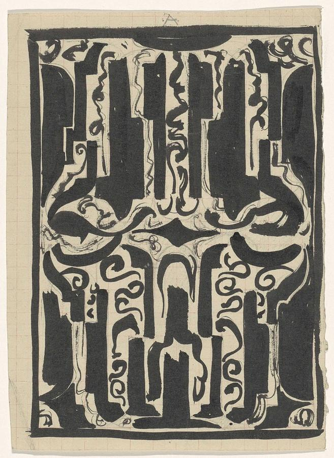 Pattern Painting - Decorative Design, Carel Adolph Lion Cachet, 1874 - 1945 H by Carel Adolph Lion Cachet