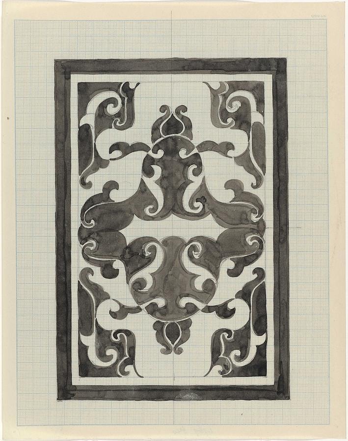Pattern Painting - Decorative Design, Carel Adolph Lion Cachet, 1874 - 1945 Jd by Carel Adolph Lion Cachet