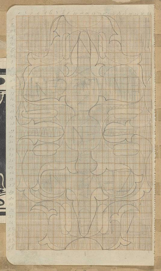 Pattern Painting - Decorative Design, Carel Adolph Lion Cachet, 1874 - 1945 R by Carel Adolph Lion Cachet